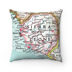 Magic Kingdom Map, Pink Walls, Perfect Pillow, Sierra Leone, Custom Items, Pillow Inserts, House Warming, Sewing Projects, Throw Pillows