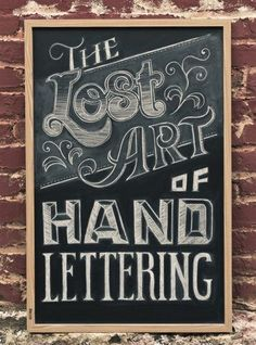 the lost art of hand lettering...