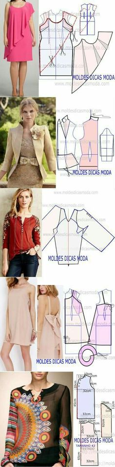 Amazing Sewing Patterns Clone Your Clothes Ideas. Enchanting Sewing Patterns Clone Your Clothes Ideas. Sewing Dress, Dress Sewing Patterns, Sewing Clothes, Clothing Patterns, Fashion Sewing, Diy Fashion, Diy Kleidung, Diy Vetement, Creation Couture