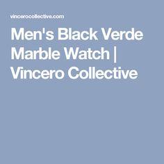 Men's Black Verde Marble Watch | Vincero Collective