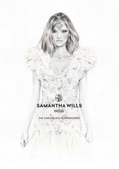 Kelly Smith is a fashion illustrator, specialising in portraiture and beauty.-pin it from carden