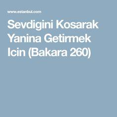 Sevdigini Kosarak Yanina Getirmek Icin (Bakara 260)