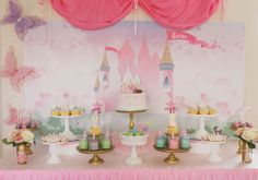 Princess party table set up ideas
