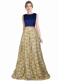 e7dff0eafd4 Bollywood New Party Wear Stylish Designer Printed Western Gown Dresses With  Belt  FlowersFashion