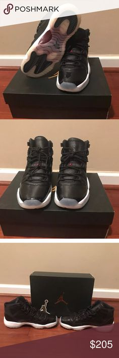 Nike Air Jordan Retro 11 (72-10) Size: 5Y GS Nike Air Jordan retro 11 (72-10) 5Y(gs) in GREAT condition!. Only worn once. 100% authentic. Will come in original box with shoe trees. Jordan Shoes Sneakers