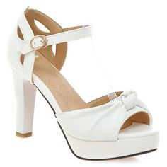 Ladylike Peep Toe and Chunky Heel Design Women's Sandals #>=#>=#>=#>=#> Click on the pin to check out discount price, color, size, shipping, etc. Save and like it!