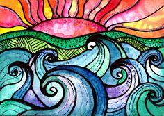 Wild Seas Wal Art, In Natura, Maori Art, Middle School Art, Alcohol Ink Art, Surf Art, Aboriginal Art, Ocean Art, Art Classroom