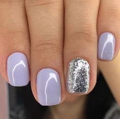 In look for some nail designs and some ideas for your nails? Here is our list of must-try coffin acrylic nails for fashionable women. Light Purple Nails, Purple Glitter Nails, Purple Shellac Nails, Nail Pink, Shellac Nail Art, Glitter Art, Pastel Purple, Gel Manicure, Lilac