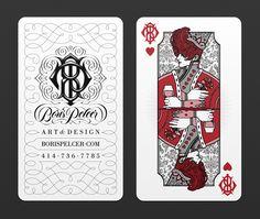 BUSINESS CARDS by Boris Pelcer, via Behance