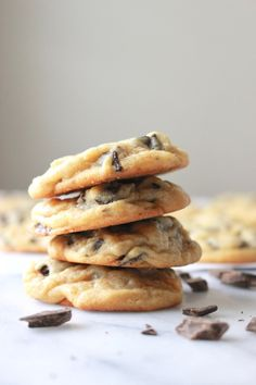 Secret Ingredient Chocolate Chip Cookies – Erie Fitness Tips Raw Food Recipes, Cookie Recipes, Dessert Recipes, Bread Recipes, Baking Recipes, Chocolate Chip Pudding Cookies, Vanilla Pudding Mix, Banana Chips, Banana Bread