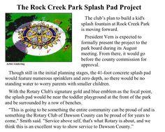 #rotaryclub of Dawson County splash park project