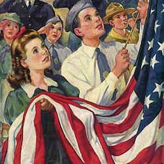 old glory - Norman Rockwell