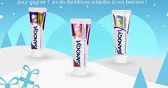Participez à ce jeu concours et tentez de remporter1 An de dentifrices Sanogyl adaptés à vos besoins. Pour participer au tirage au sort, vous devez vous inscrire via «j'en profite». Le concours se termine le 3 Janvier 2016. Bonne chance !