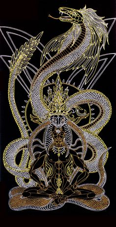 Quezacoatl by Lakandiwa on Deviantart Graffiti Art, Quetzalcoatl Tattoo, Esoteric Art, Aztec Art, Occult Art, Love Spells, Visionary Art, Eye Art, Psychedelic Art