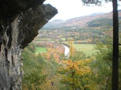 Fall climbing at Rumney Rocks