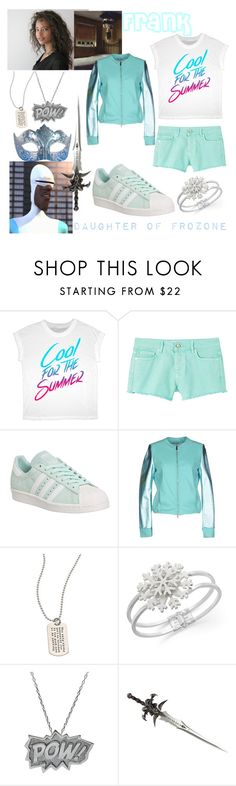 """descendants oc - Frozone"" by theclocker ❤ liked on Polyvore featuring MANGO, adidas, Gareth Pugh, Annarita N., Metal Pressions, Charter Club, Edge Only and Masquerade"