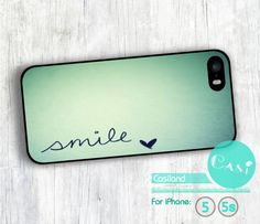 Smile iPhone 5 case, iPhone 5s case, Mint iPhone 5 5s hard cover, cover skin case for iPhone 5/5s on Etsy, $6.99