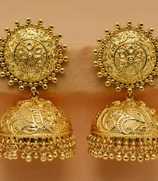 Gold Plated Jhumkas Jhumka Online Indian Jewelry Earrings Gypsy Fashion