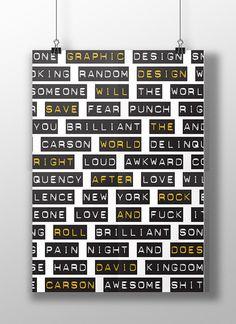 David Carson - Poster on Behance