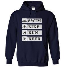 shirt triathlon tri funny swim bike run beer