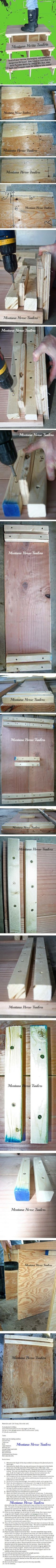 Montana Horse Trailers Shows you how to build your own portable RV stairs for under $55.00.   *Sand edges and stain and/or paint as desired.