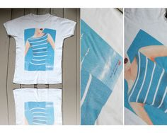 Air France - tshirt motif PinUp Pin Up - manche courte - T.38 cf dimensions