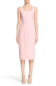 Free shipping and returns on Michael Kors Double Face Stretch Wool Sheath Dress at Nordstrom.com. Tailored from double-faced stretch wool in the softest shade of ballet pink, this below-the-knee sheath is a collection standout. Fit-perfecting princess seams sculpt and flatter curves, while a vented back hem eases movement.