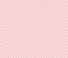 polka dot pink fabric by minimiel on Spoonflower - custom fabric