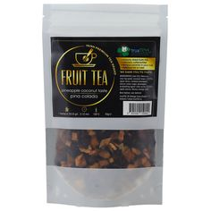 PINA COLADA - FRUIT TEA - PINEAPPLE/COCONUT TASTE  GREAT TASTE AWARDED FAMOUS COCKTAIL IN YOUR CUP OF TEA Famous Cocktails, Fruit Tea, Pineapple Coconut, Orange Peel, Pina Colada, Cocktail Drinks, Tea Cups, Canning, Shop