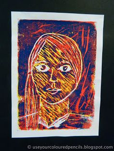 Use Your Coloured Pencils: Self Portrait Foam Reduction Prints