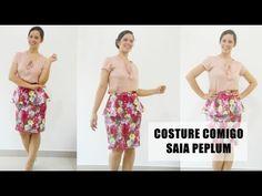 Como fazer saia peplum - costura super fácil | Ellen Borges - YouTube