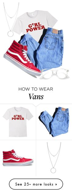"""Untitled #32"" by freak-history on Polyvore featuring Levi's, Vans, Botkier, vans, rose and girlpower"