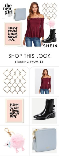 """""""Scalloped Laser Cut Top"""" by decor4 ❤ liked on Polyvore featuring casualoutfit, fashionset, shein and sheingals"""