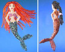 3-D Little Mermaid Beading Pattern by Ruth Kiel at Bead-Patterns.com
