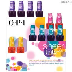 Spring 2014: OPI Sheer Tints Collection