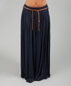 Love this Navy Belted Kudrow Skirt by des si belles on #zulily! #zulilyfinds