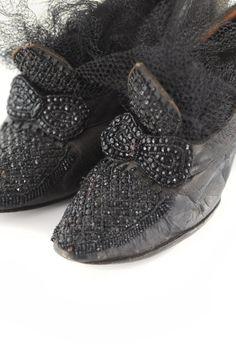 VINTAGE 1900's Black Leather Antique EDWARDIAN by KarmaRox on Etsy, $199.00