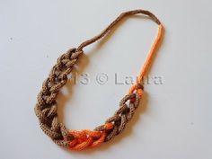 Laura fa: Collane di lana con il tricotin
