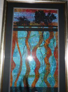 The Lagoon  By Caroline Sharkey www.textileartworkshopsonline.com