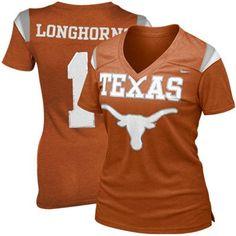 Nike Texas Longhorns Ladies Replica Football Premium T-shirt - Burnt Orange