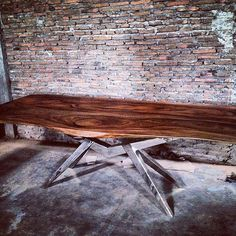 Live Edge Wood Slab Dining Table - EMFURN