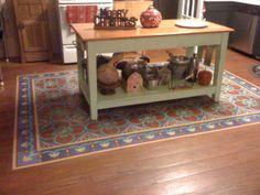 Beautiful flooring for the kitchen [ MexicanConnexionForTile.com ] #kitchen #Talavera #handmade