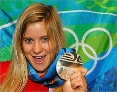 Gold medalist Hannah Teter is heading to the 2014 Olympics for her third games. She won gold in 2006, silver in 2010 and now has her sights set on Sochi.  Hailing from Vermont, she grew up riding at Okemo Mountain and attended the Okemo Mountain School in Ludlow, Vt. She burst onto the scene at 15 at her debut in the Olympic halfpipe at the 2006 Torino Games. Since then, she has been a creative source of snowboarding and charity.