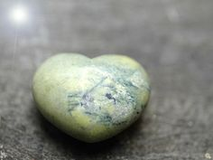 Solid Connemara Marble 3D heart shaped stone   -  Beautiful varying  green colours - special valentines gift from Ireland - Giftboxed item