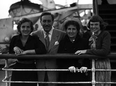 Walt Disney with family