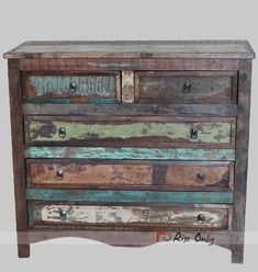Buy Reclaimed Wood Chest of Drawers, Reclaimed Wood Chest, Rustic Chest Of Drawers, Vintage Chest Of Drawers from Rise Only's online store. Recycled Wood Furniture, Custom Furniture, Painted Furniture, Chest Of Drawers Design, Vintage Chest Of Drawers, Color Washed Wood, Buy Reclaimed Wood, Furniture Makeover, Furniture Refinishing