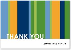 #Business Thank You Cards City Stripes - Front : Midnight via TinyPrints.com