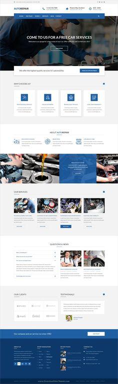 AutoRepair is a simple and multipurpose #PSD template for #car mechanic #workshop websites download now➩ https://themeforest.net/item/autorepair-car-mechanic-psd-template-for-mechanic-workshop/19343979?ref=Datasata