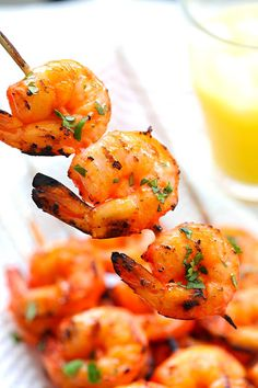 Tandoori Shrimp - perfectly marinated and grilled Indian Tandoori shrimp skewers. Super easy recipe that yields the most delicious shrimp ever!