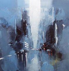 Castan Castan, Manhattan - Un matin tôt, Peinture